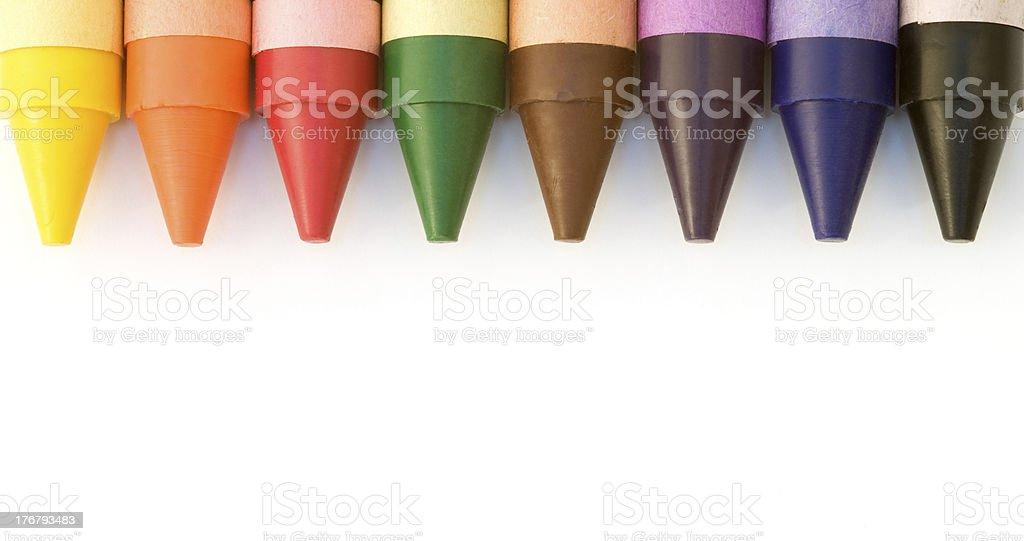 wax crayons royalty-free stock photo
