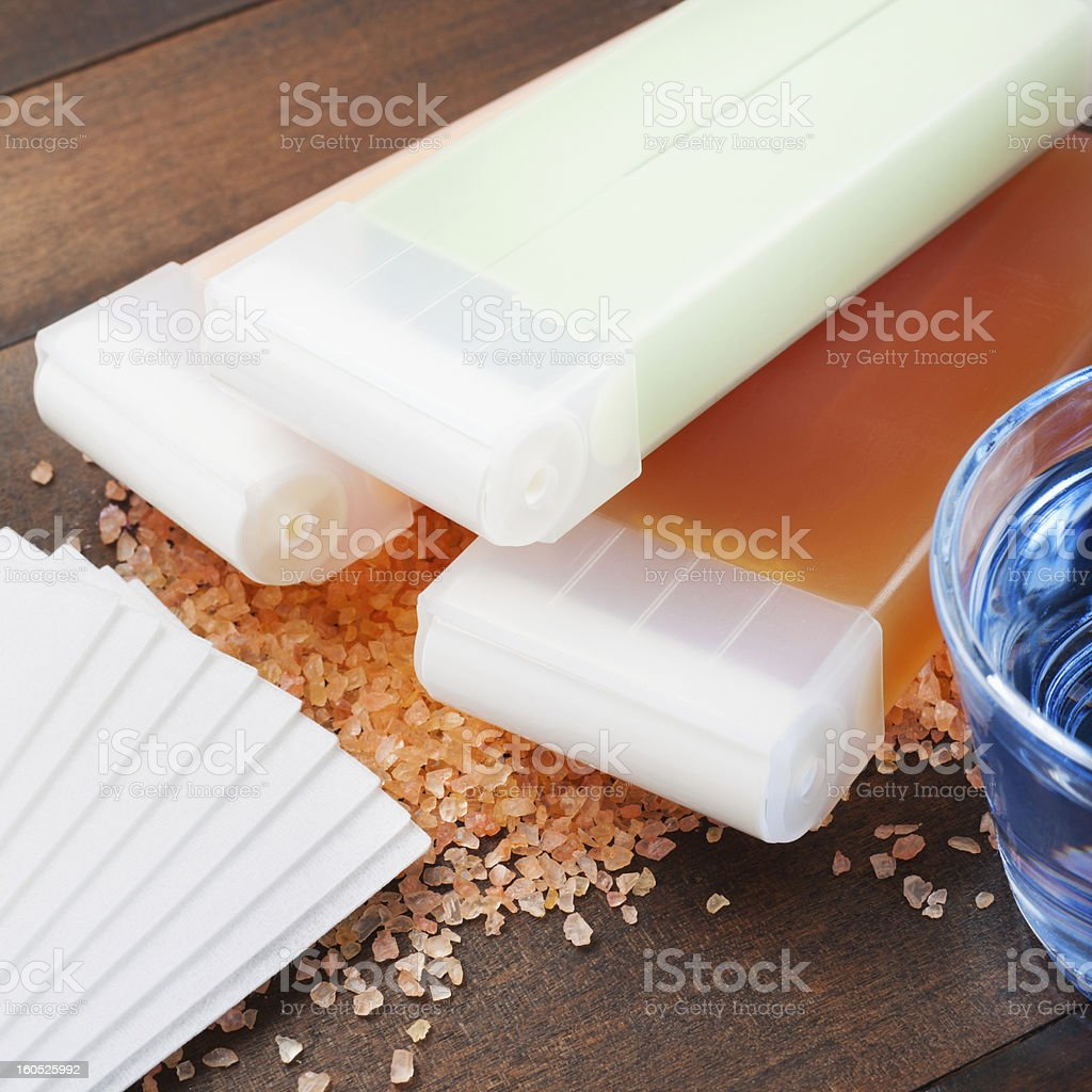 wax for hair removal stock photo