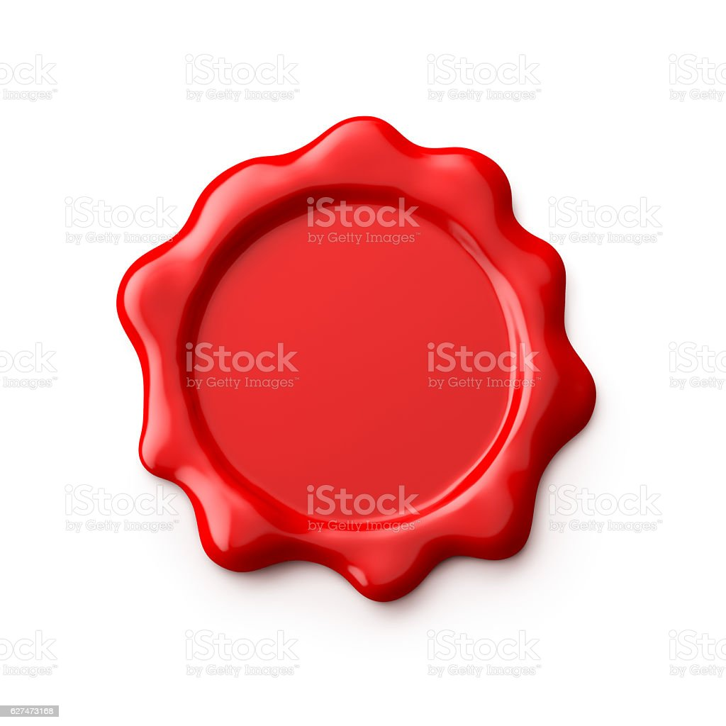 Wax Seal Isolated on White stock photo