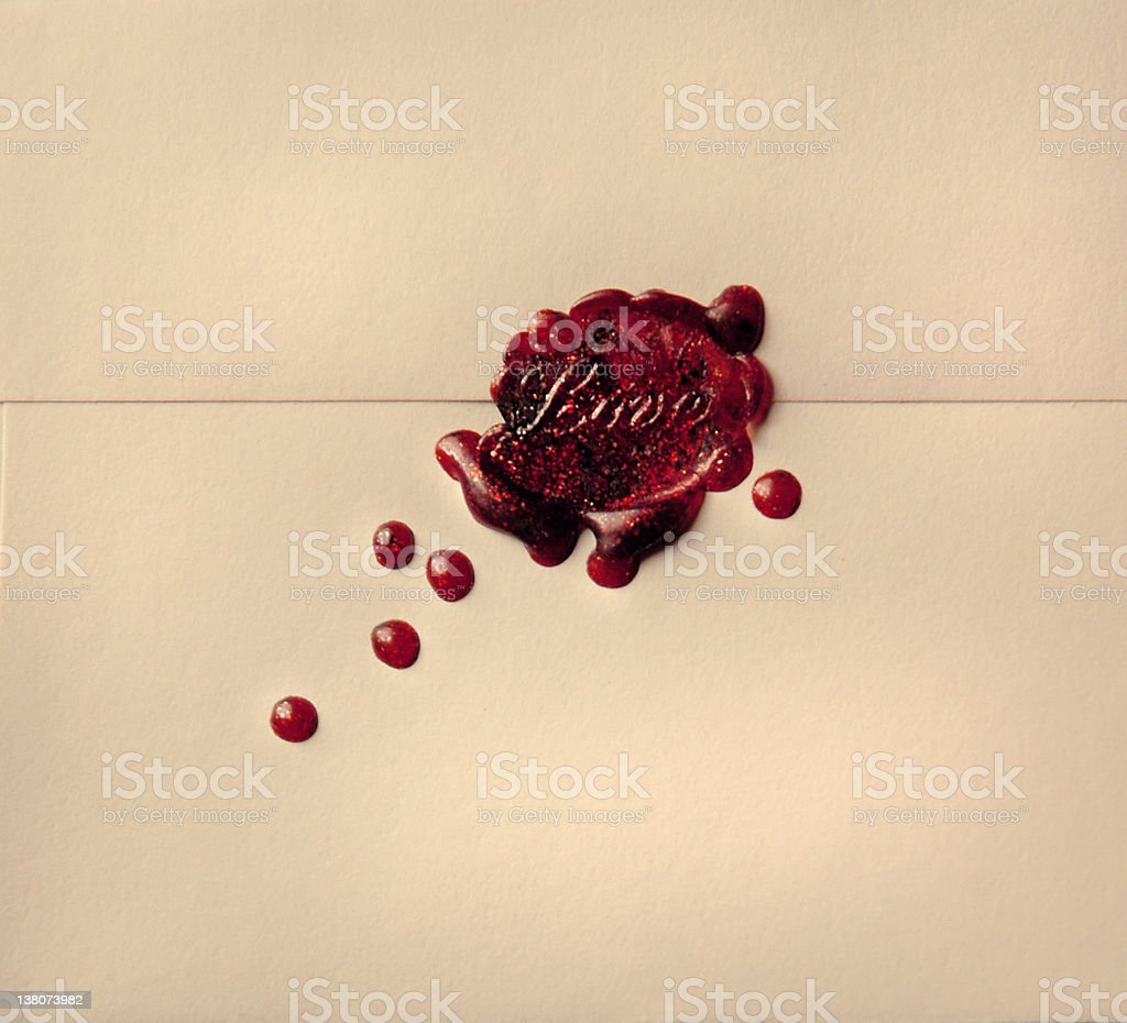 Wax Seal Love Letter Heart stock photo
