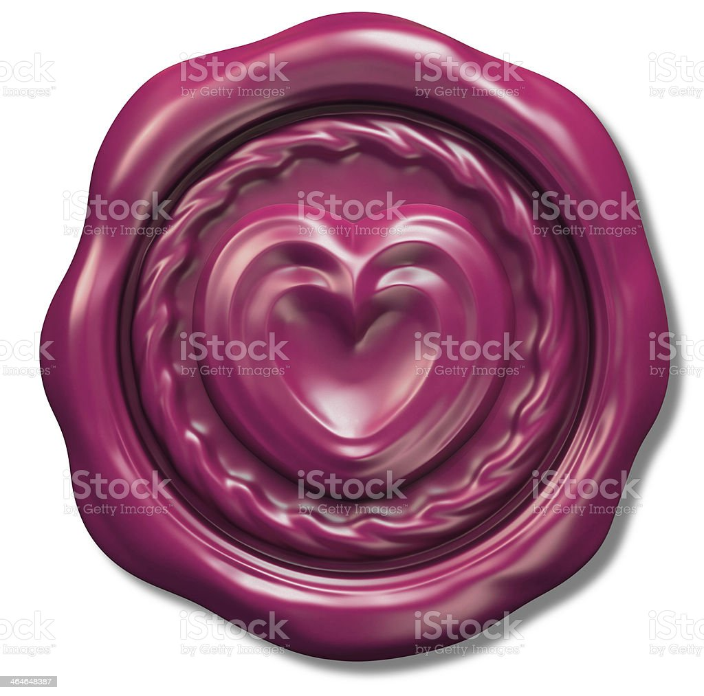 Wax Seal of Love stock photo