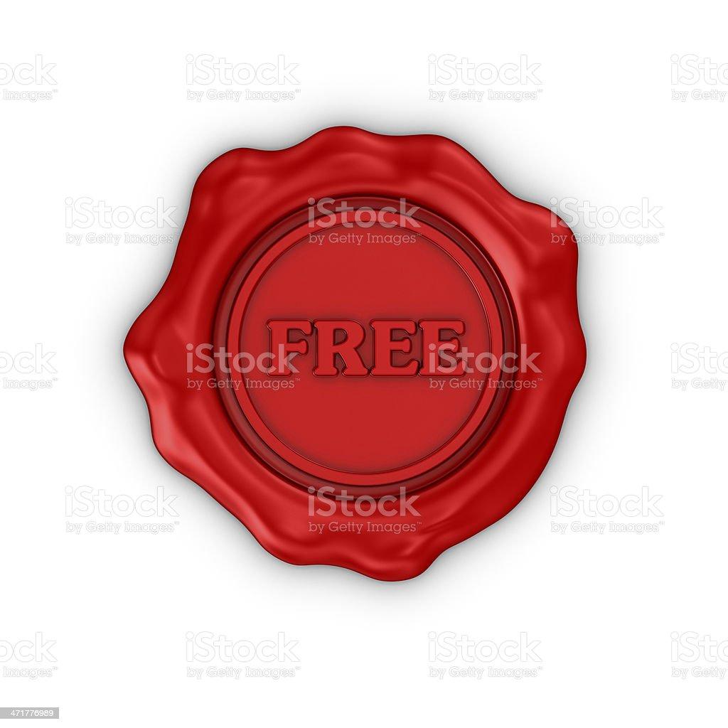 Wax Seal royalty-free stock photo