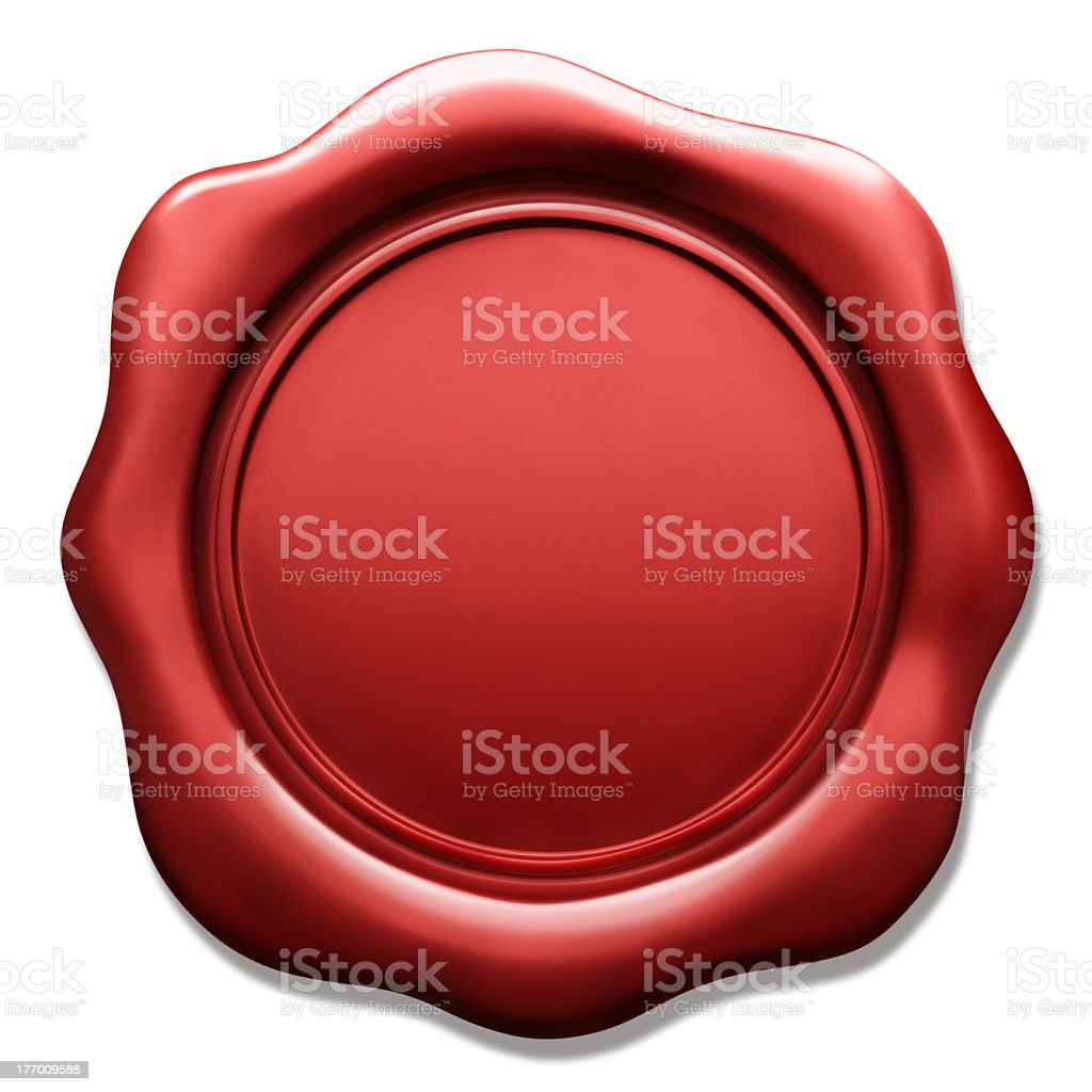 Wax seal used to stamp envelopes stock photo