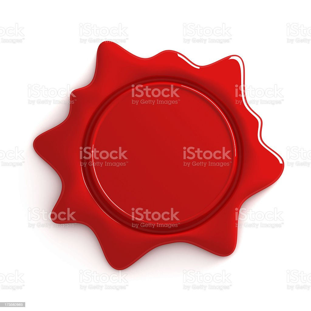 wax seal with room for text isolated in white background stock photo