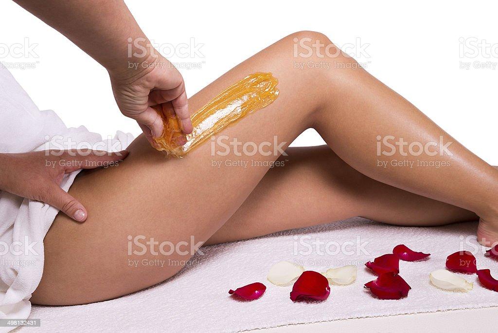 Wax treatment stock photo