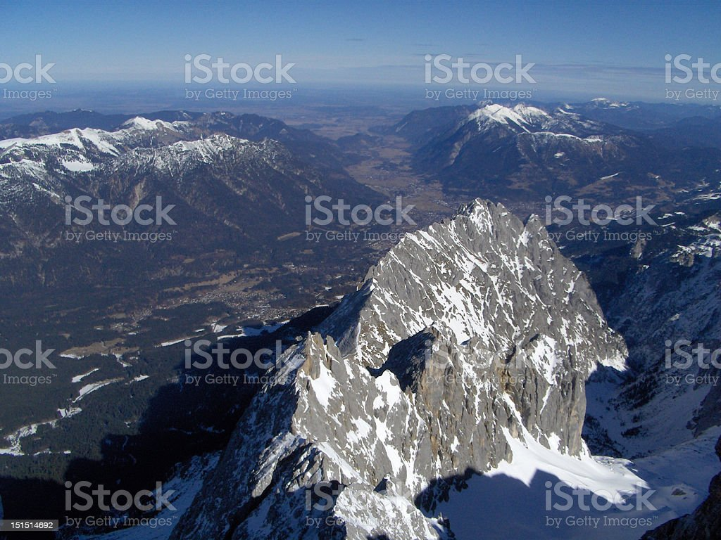 Waxenstein Mountain stock photo