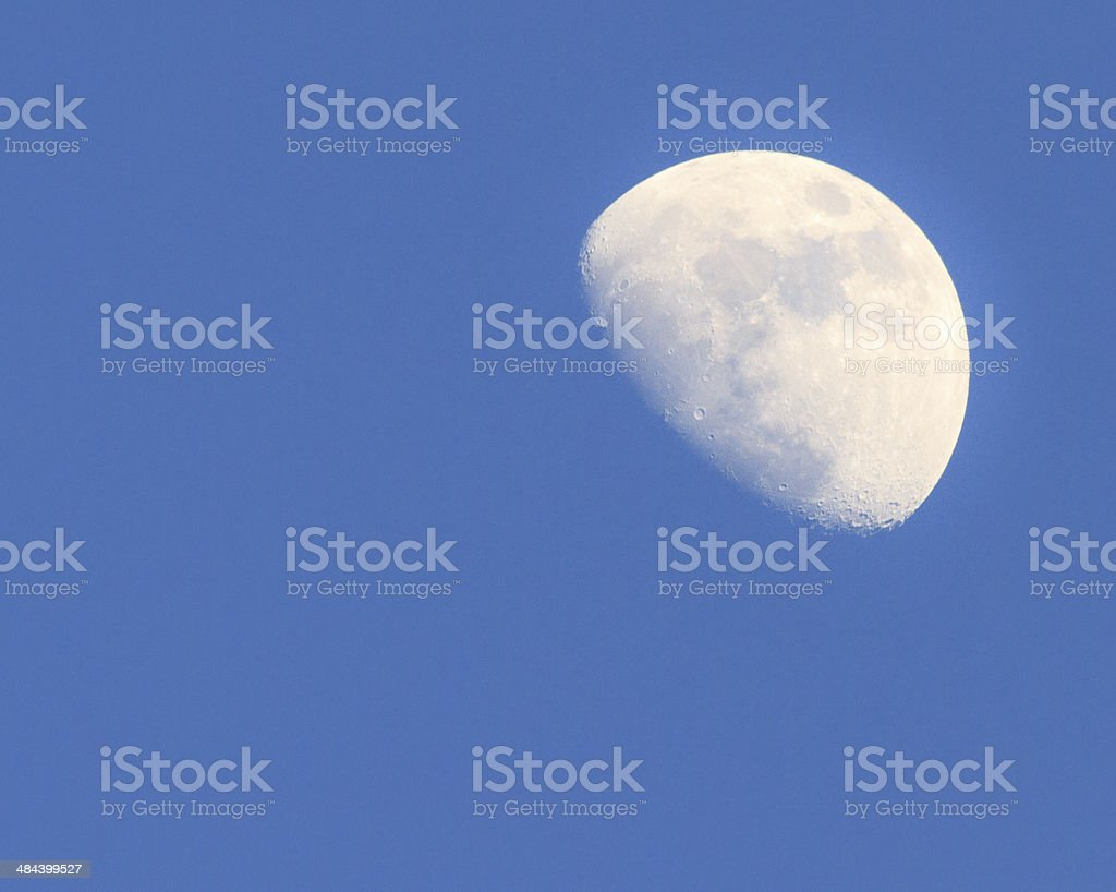Waxing Gibbous Moon Before Dark royalty-free stock photo