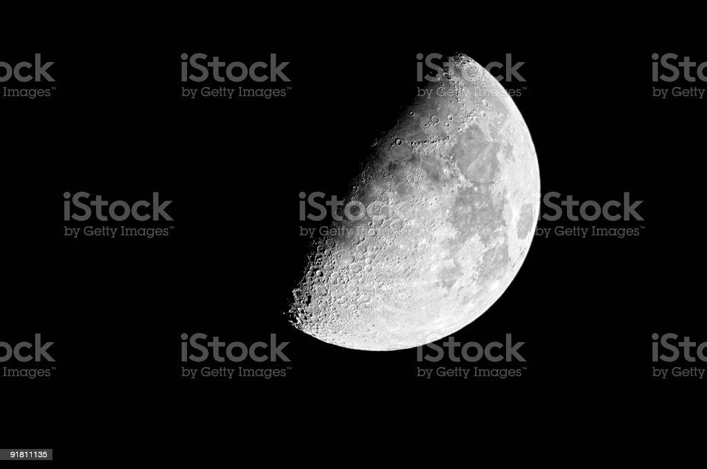 Waxing Gibbous Moon (60%) stock photo