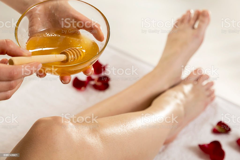 Waxing stock photo