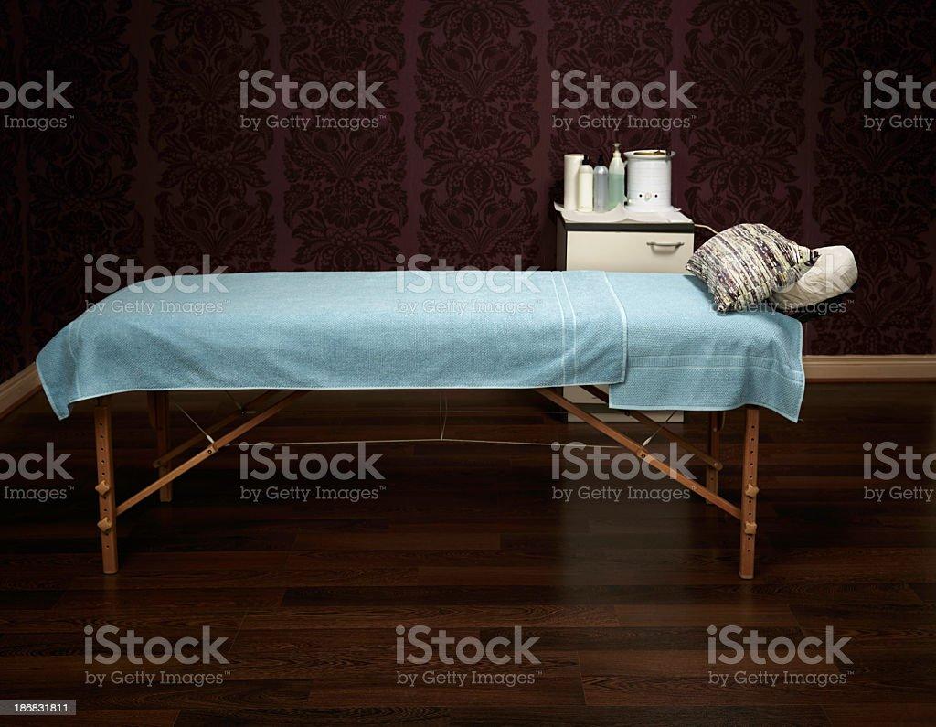 Waxing table stock photo