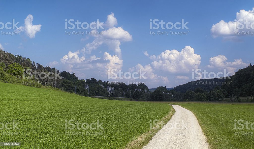 Way and Blue royalty-free stock photo