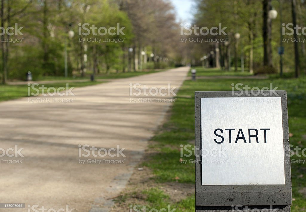 Way and sign start royalty-free stock photo