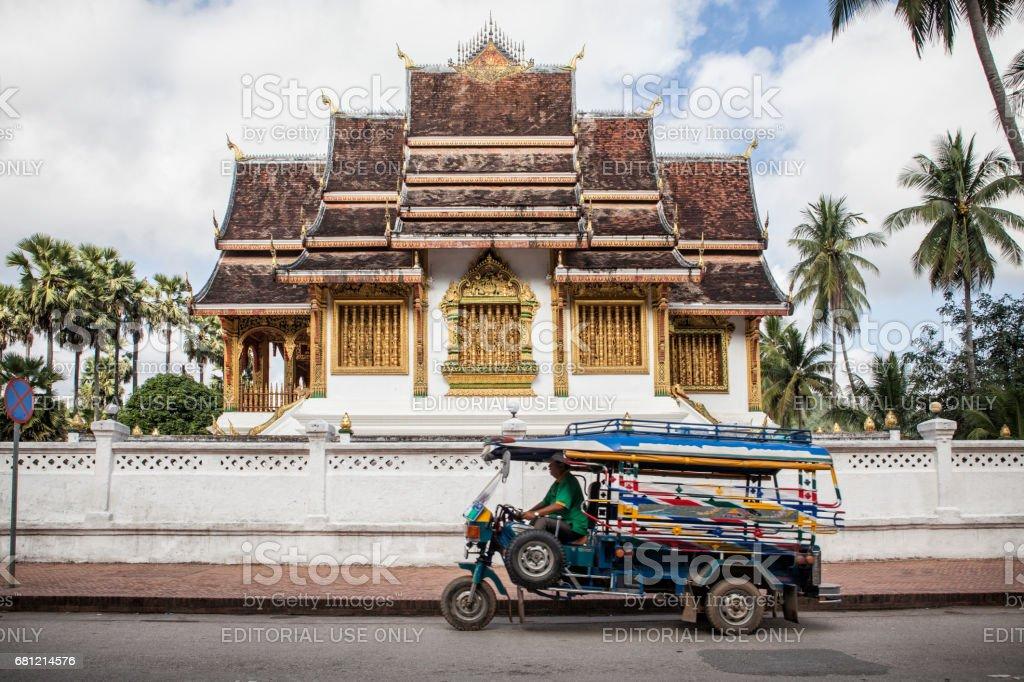 Way Ho Pha Bang temple stock photo