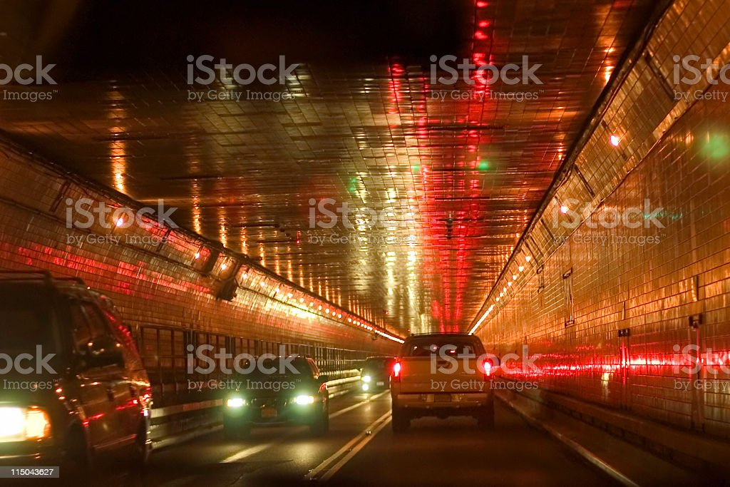Way in (Lincoln tunnel to Manhatten) royalty-free stock photo