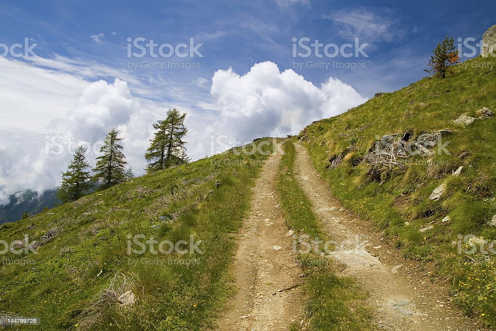 Way in the mountains royalty-free stock photo