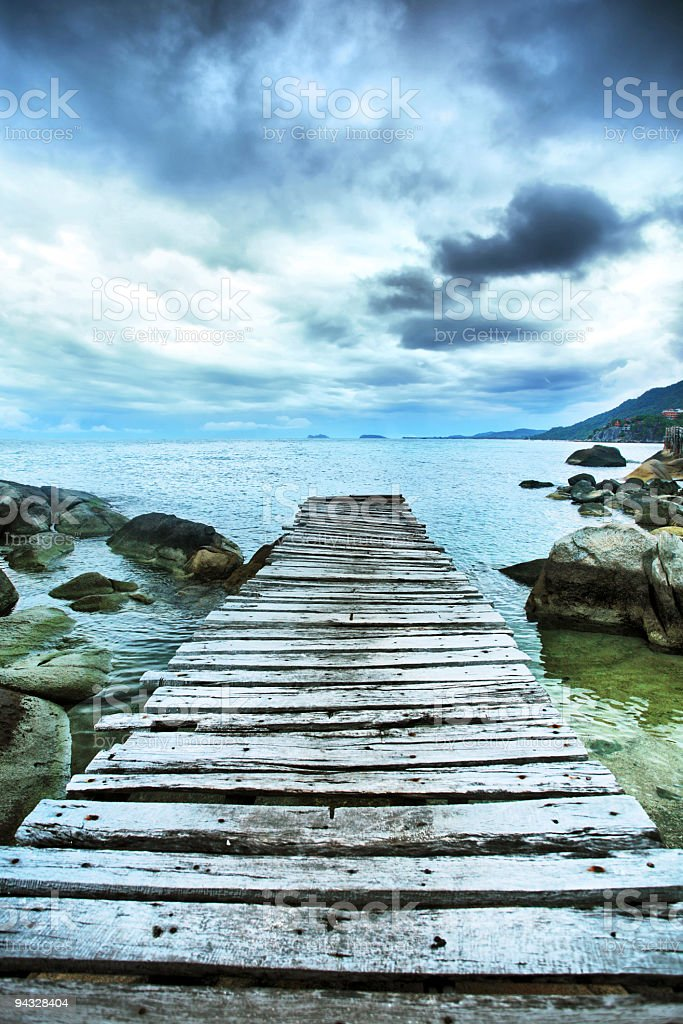 Way leading to the sea. royalty-free stock photo