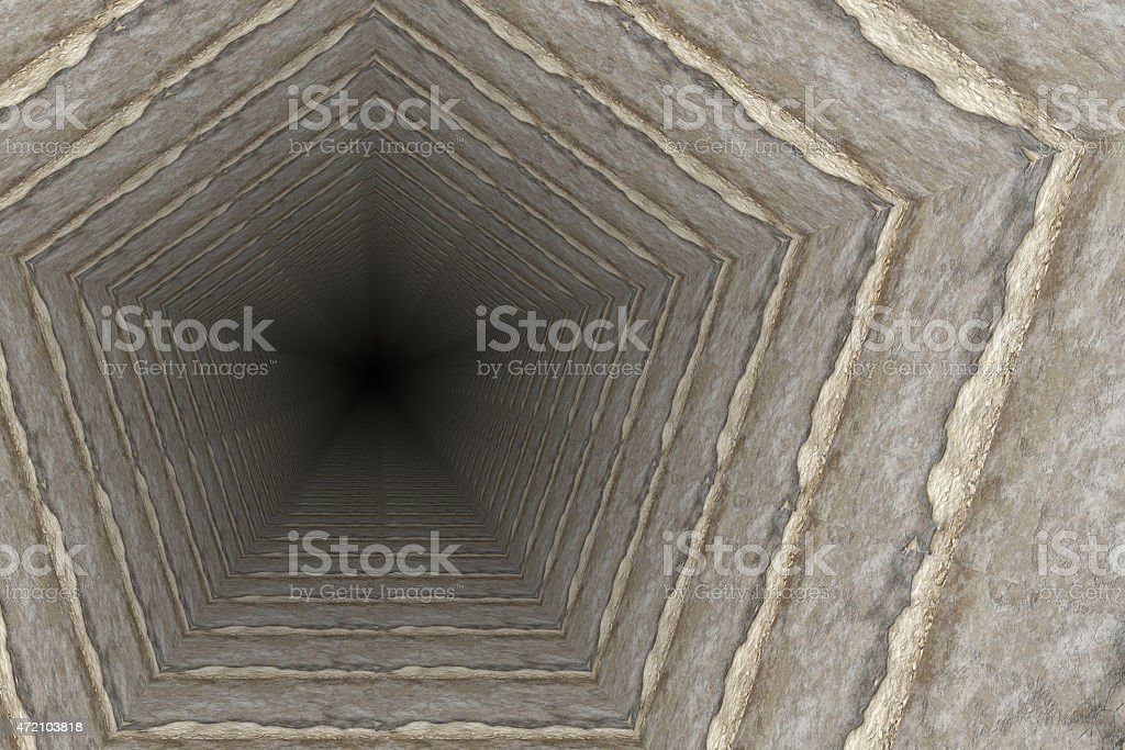 way of deep hole in a coal mine vector art illustration