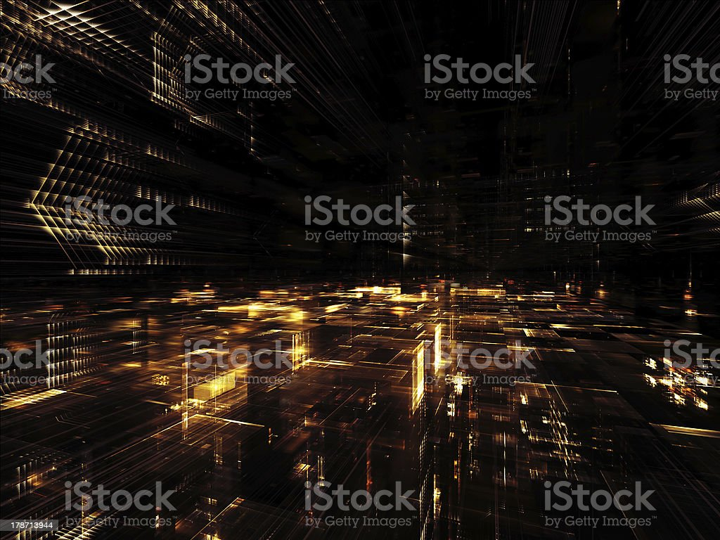 Way of Fractal World royalty-free stock photo