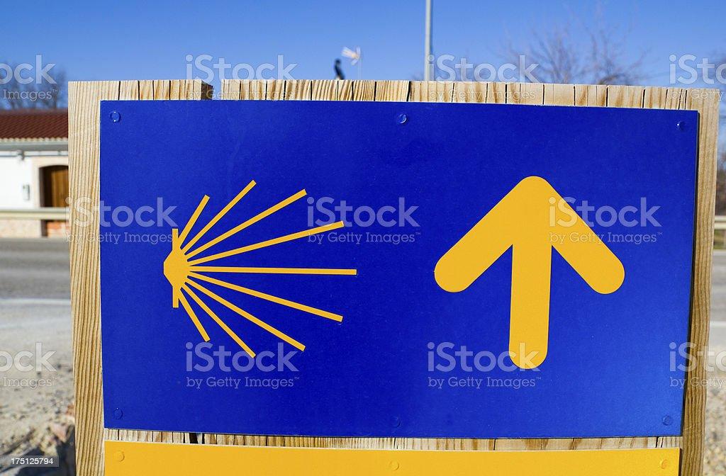 Way of Santiago. Spain royalty-free stock photo