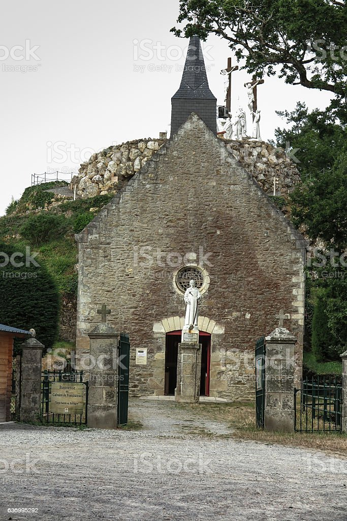 Way of the Cross  built  by St. Louis Montfort stock photo