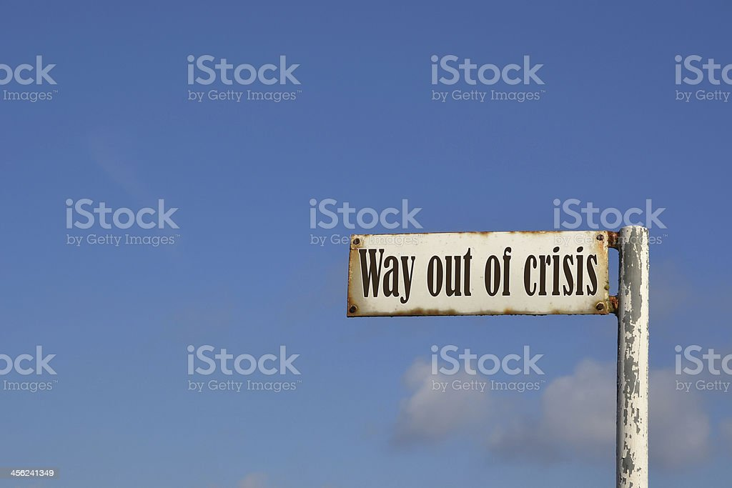 Way out of the crisis stock photo