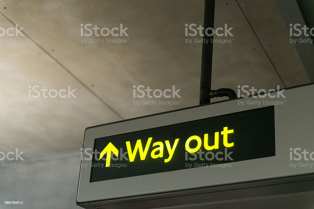 Way Out stock photo