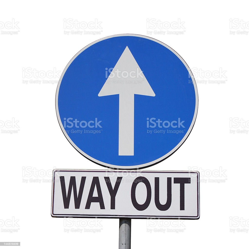 Way Out sign isolated royalty-free stock photo