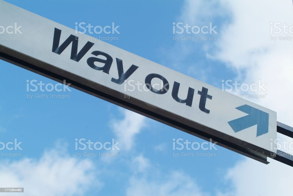Way out sign royalty-free stock photo