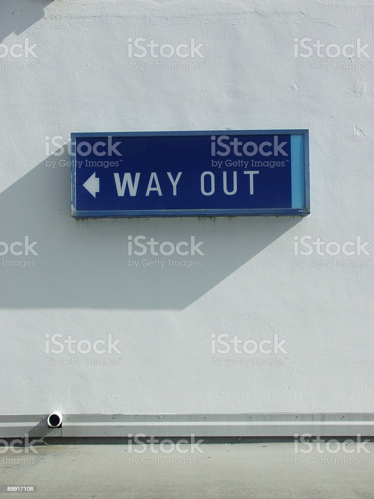 Way Out Sign. royalty-free stock photo