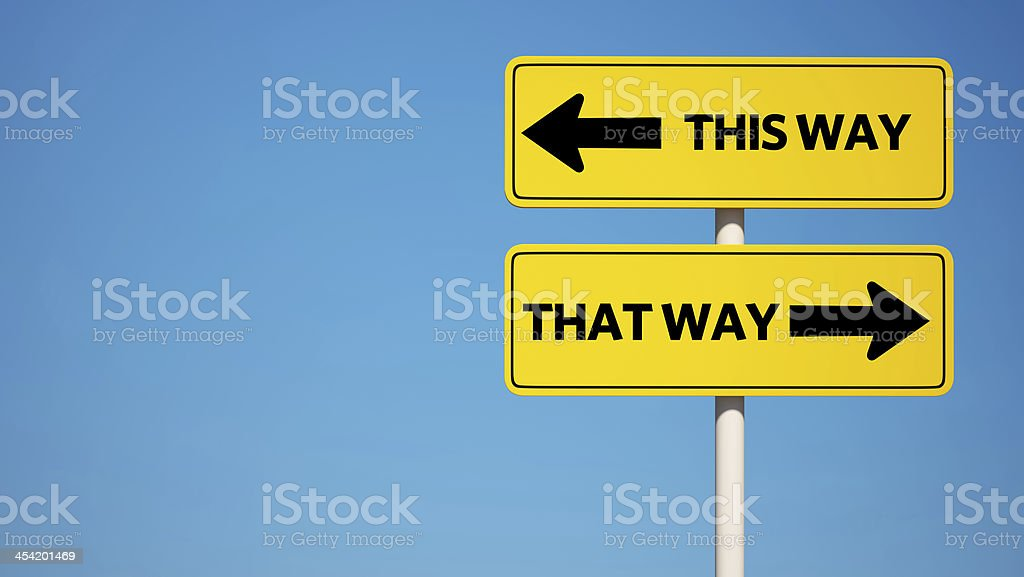 Way Sign with Clipping Path stock photo