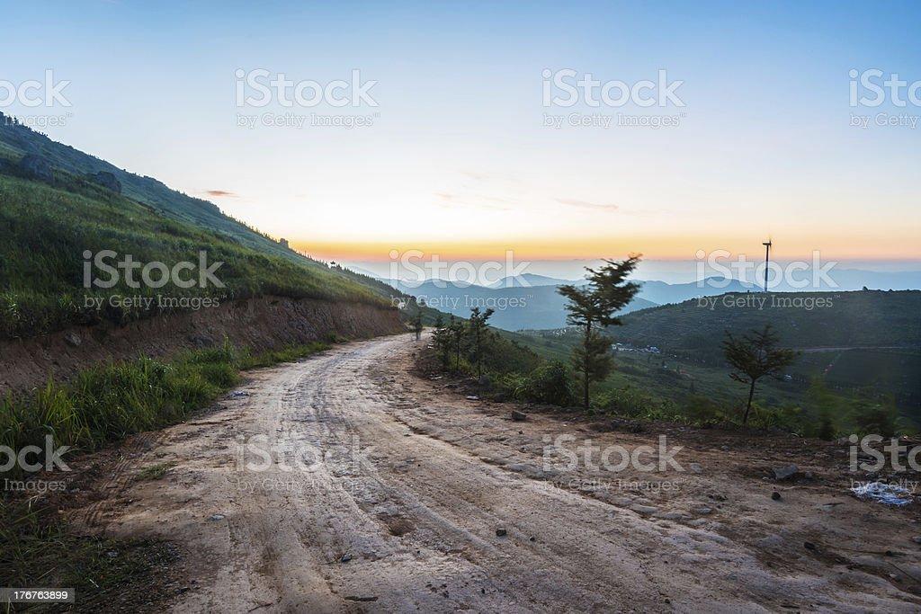 way through mountain royalty-free stock photo