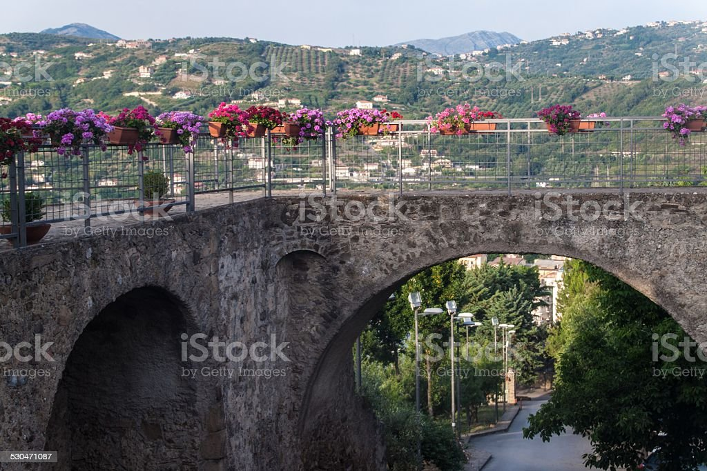 Way to a castle in Agropoli stock photo