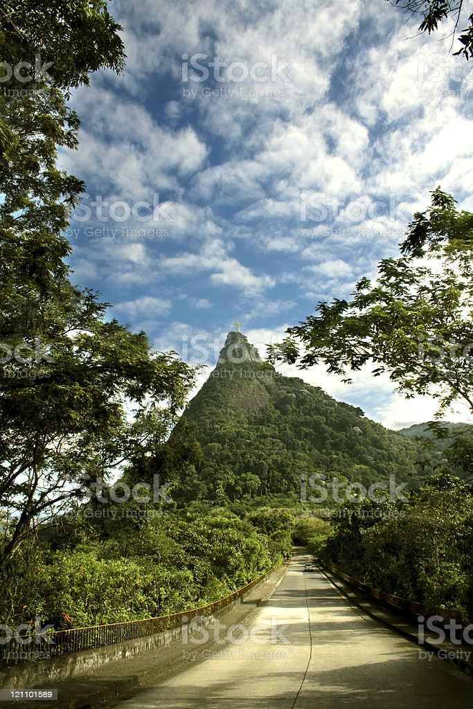 Way to Christ the Redeemer stock photo