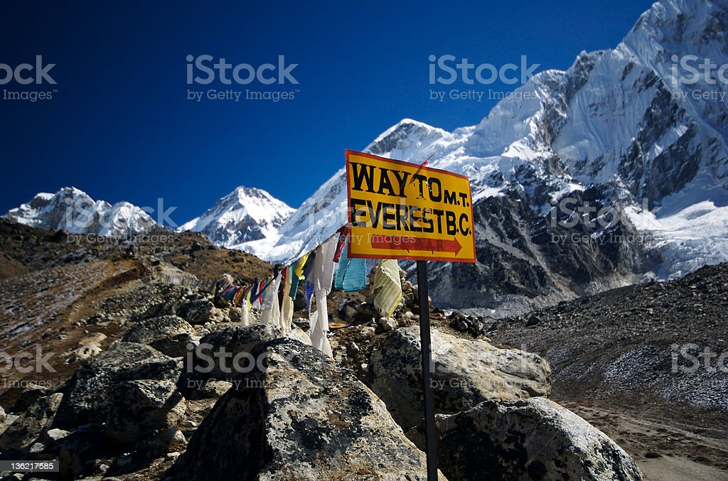 Way to Everest royalty-free stock photo