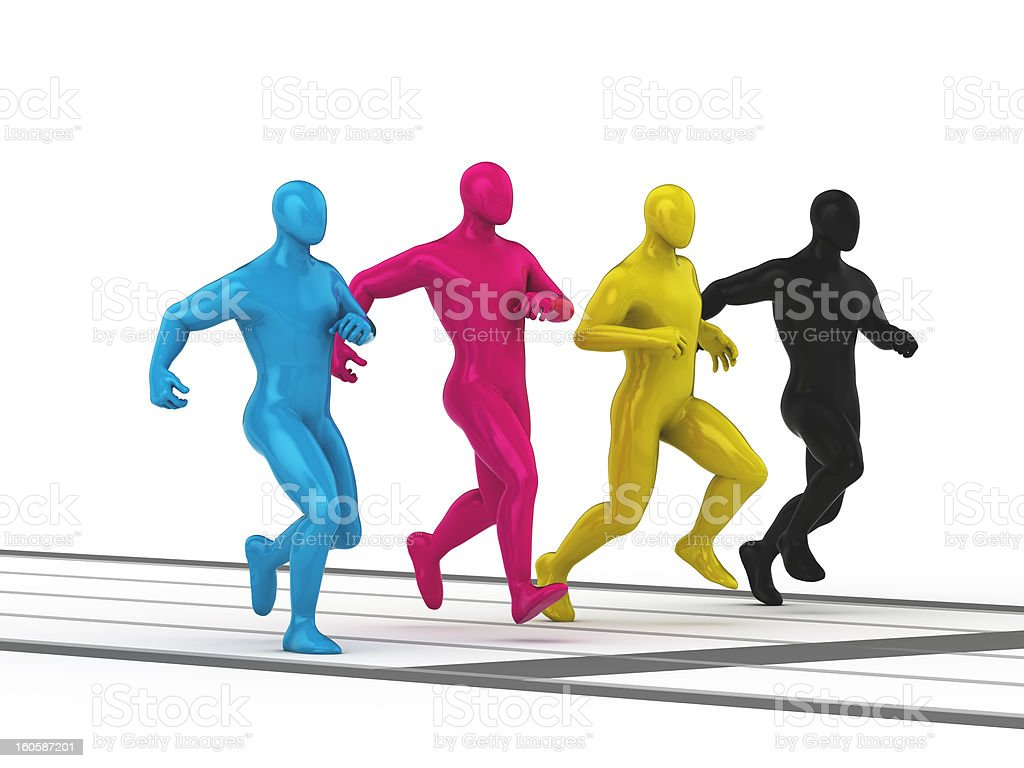 CMYK - way to future business royalty-free stock photo