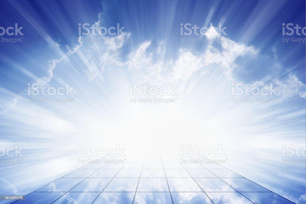 Way to heaven royalty-free stock photo