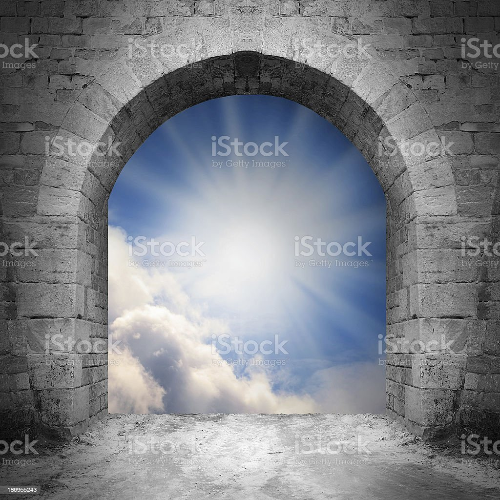 Way to heaven. stock photo