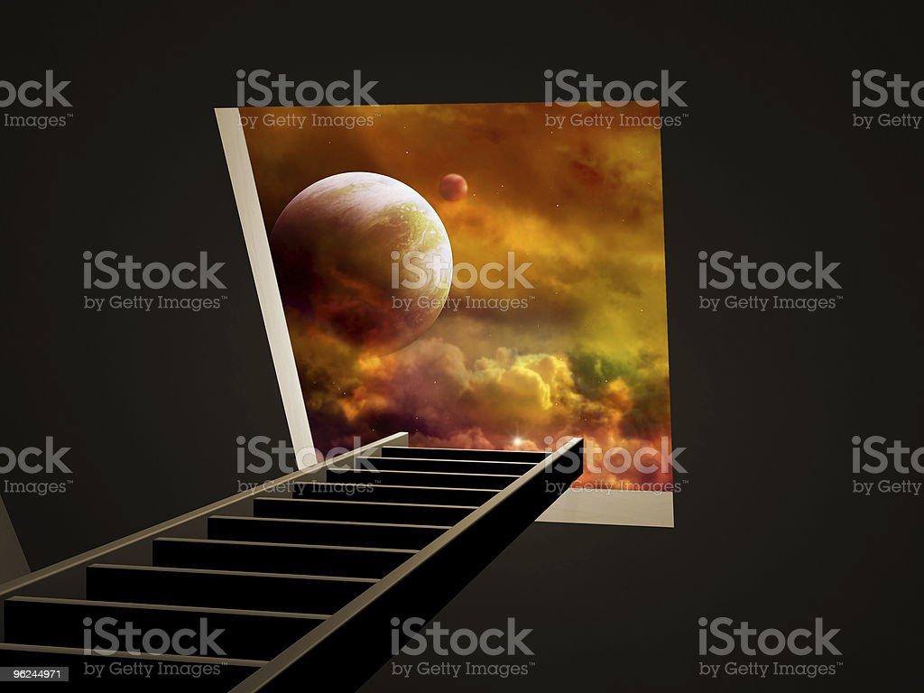 Way to imagination royalty-free stock photo