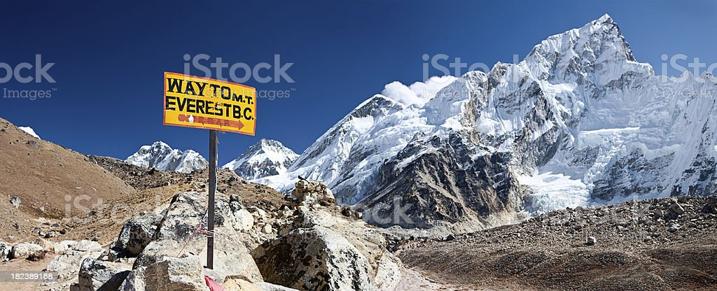 Way to Mount Everest Base Camp royalty-free stock photo