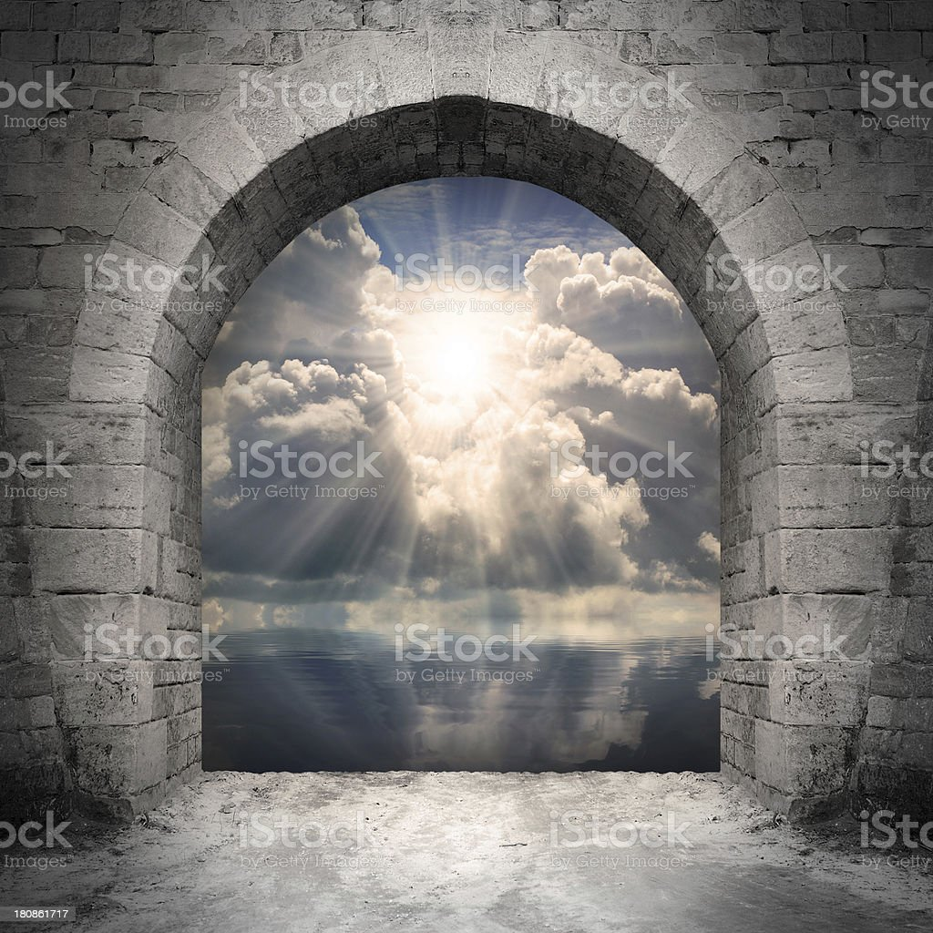 Way to new world. stock photo