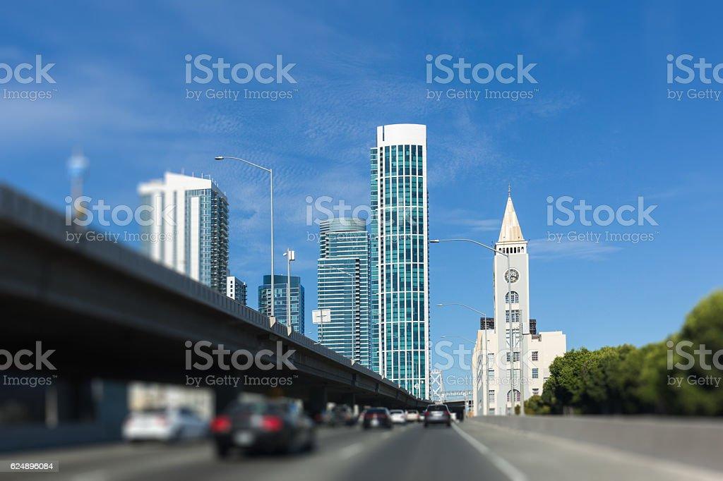 Way to San Francisco Downtown stock photo