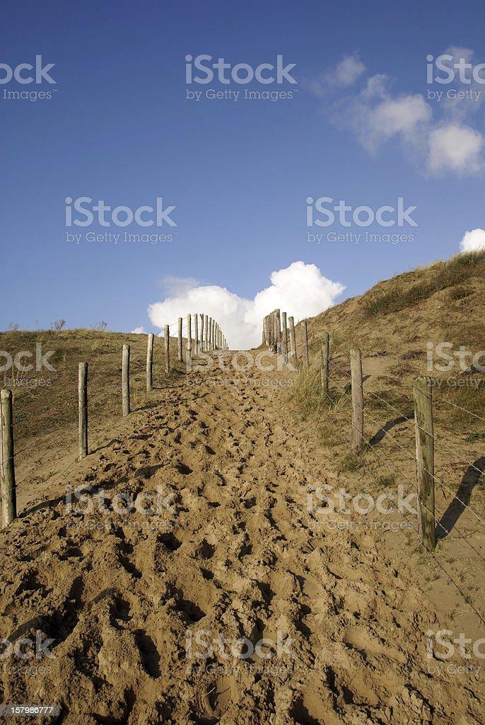 way to the beach royalty-free stock photo