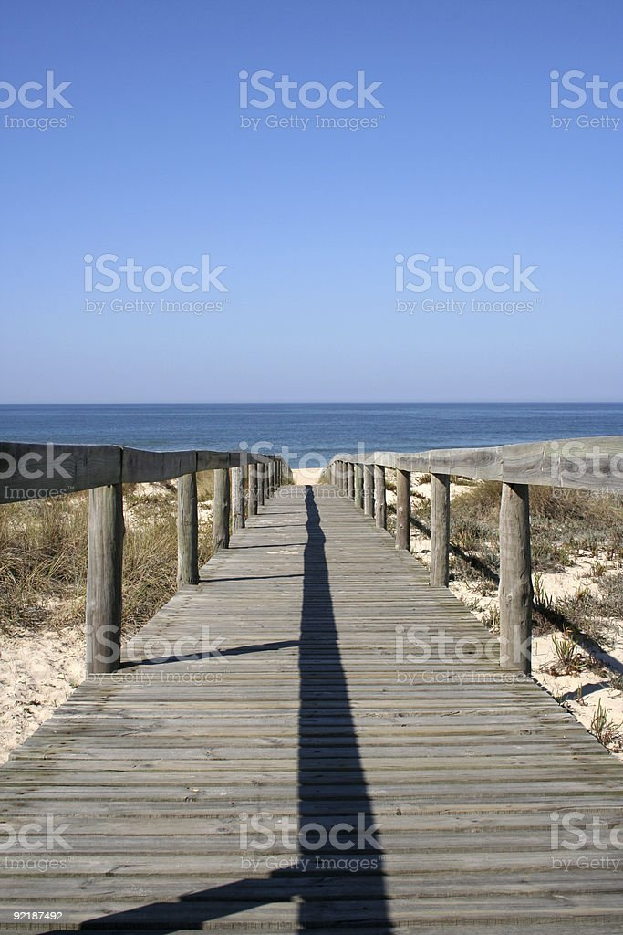 Way to the beach vertical royalty-free stock photo