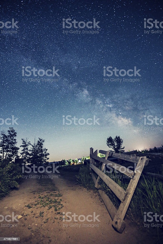 Way to the night royalty-free stock photo