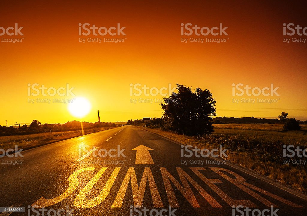Way to the summer stock photo