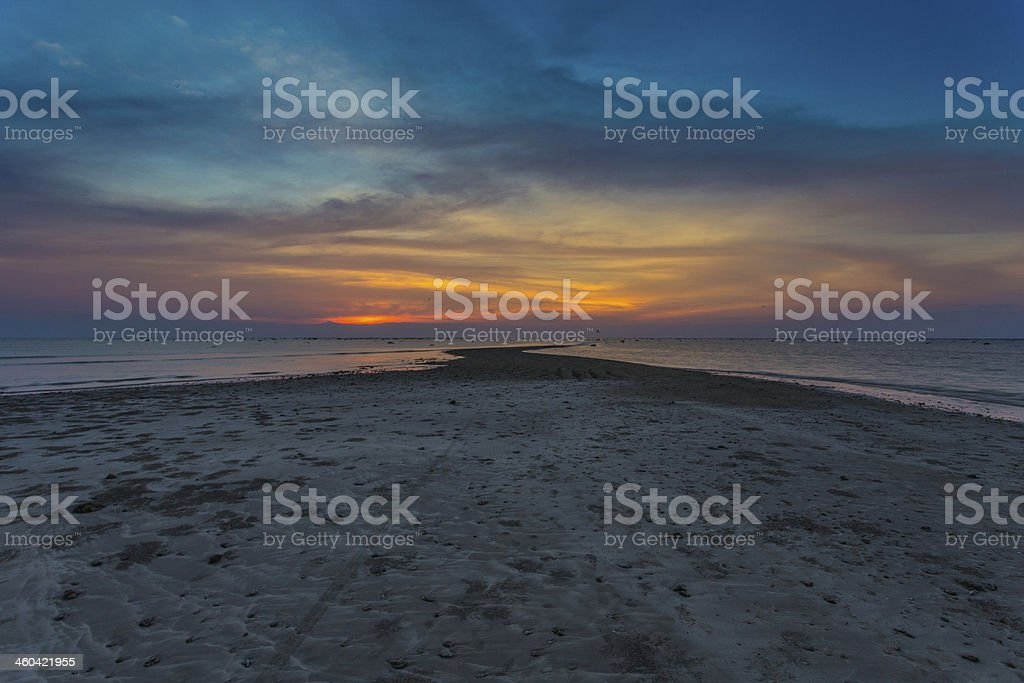 Way to the sun set royalty-free stock photo