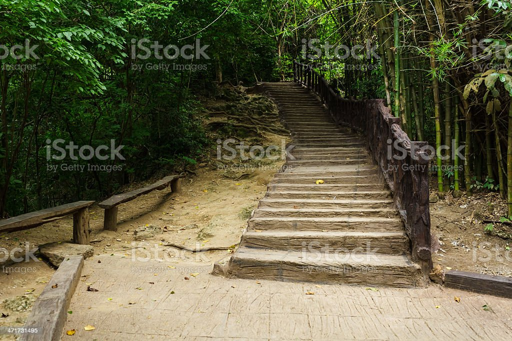 Way up a mountain. royalty-free stock photo
