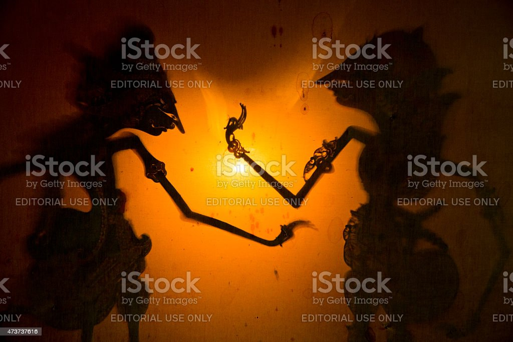 Wayang Javanese Shadow Puppet Theater Traditional Indonesia Culture stock photo