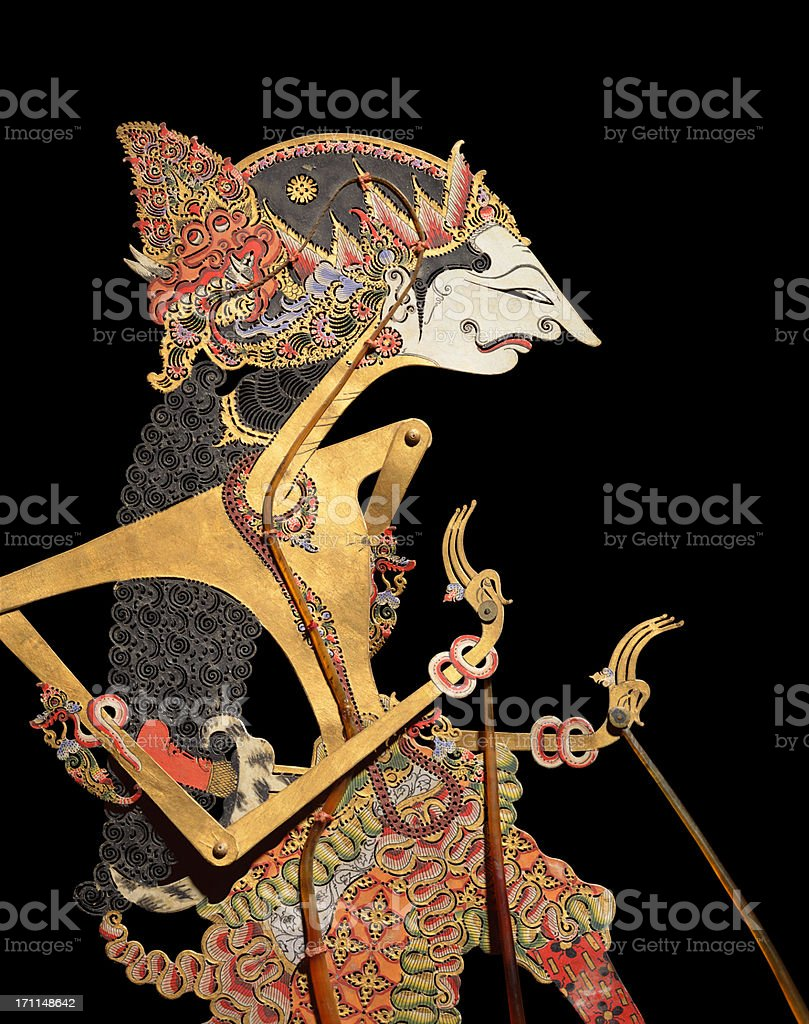 Wayang Puppet stock photo