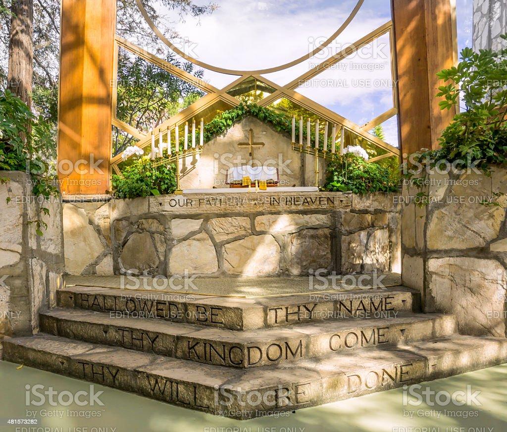 Wayfarers Chapel stock photo
